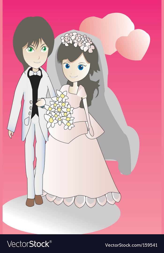Wedding doll vector | Price: 1 Credit (USD $1)