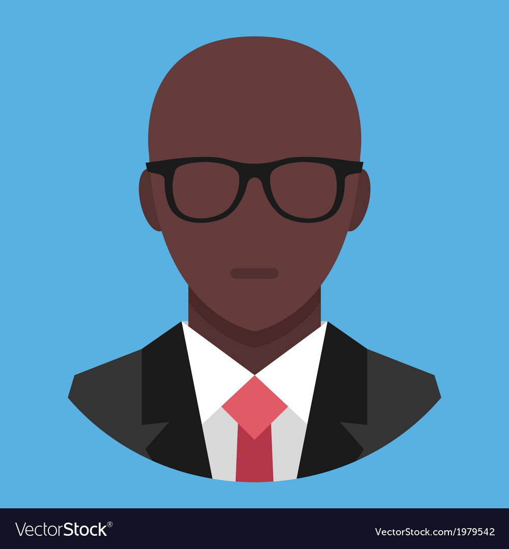 Black man in business suit icon vector | Price: 1 Credit (USD $1)