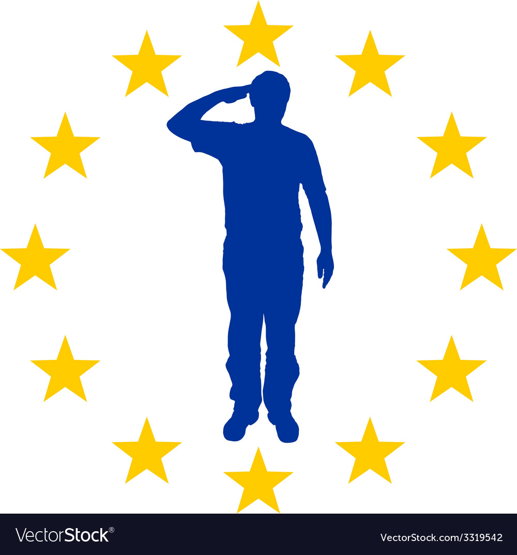 European salute vector | Price: 1 Credit (USD $1)