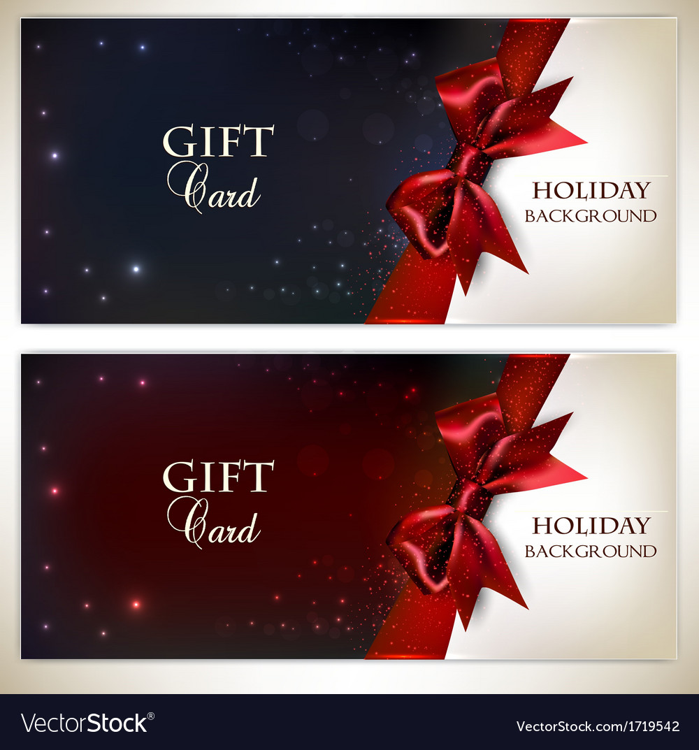 Holiday banners with red bows and copy space vector | Price: 1 Credit (USD $1)