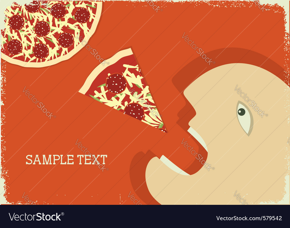Hungry man vector | Price: 1 Credit (USD $1)