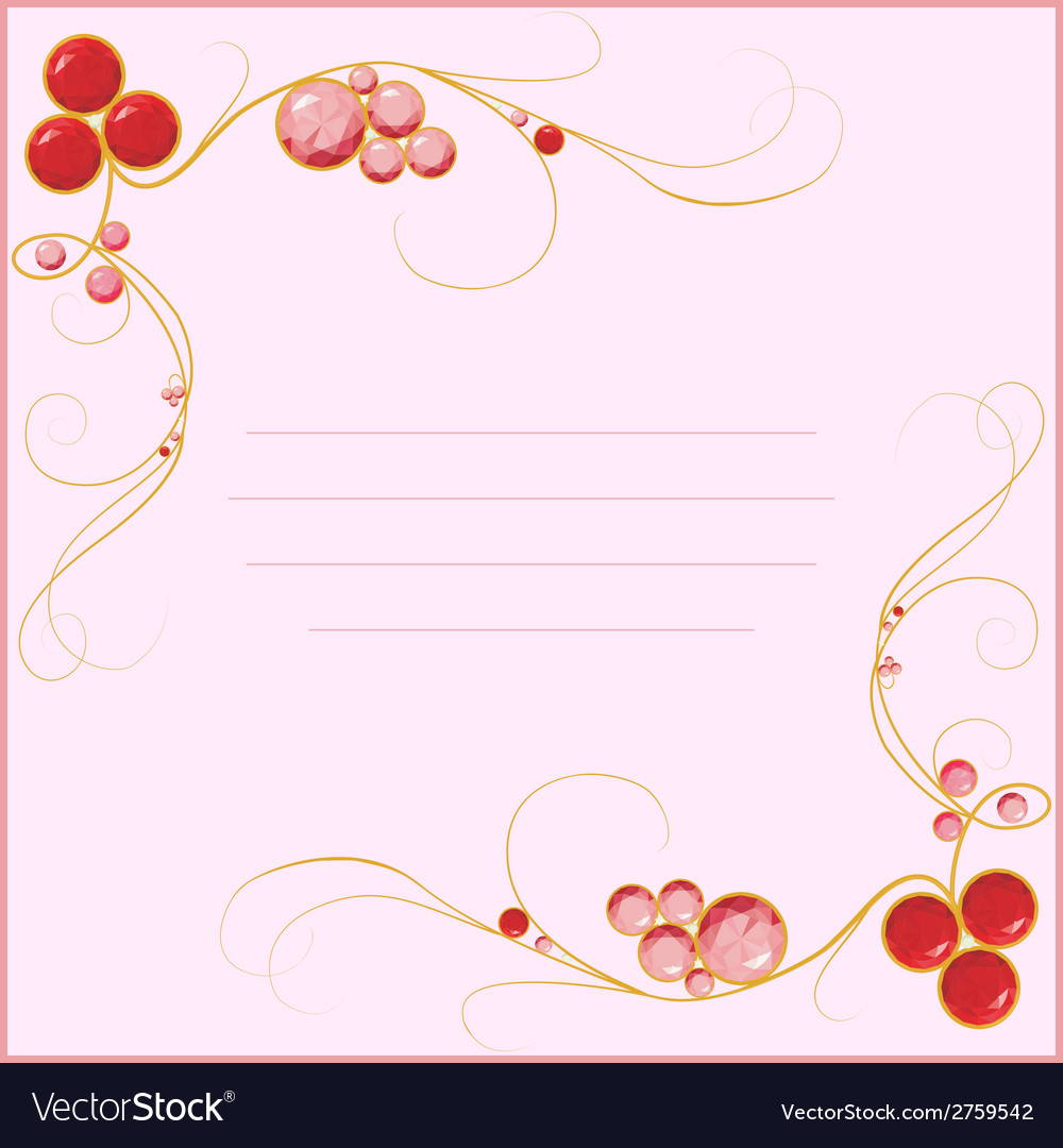 Jewel blank for card vector | Price: 1 Credit (USD $1)