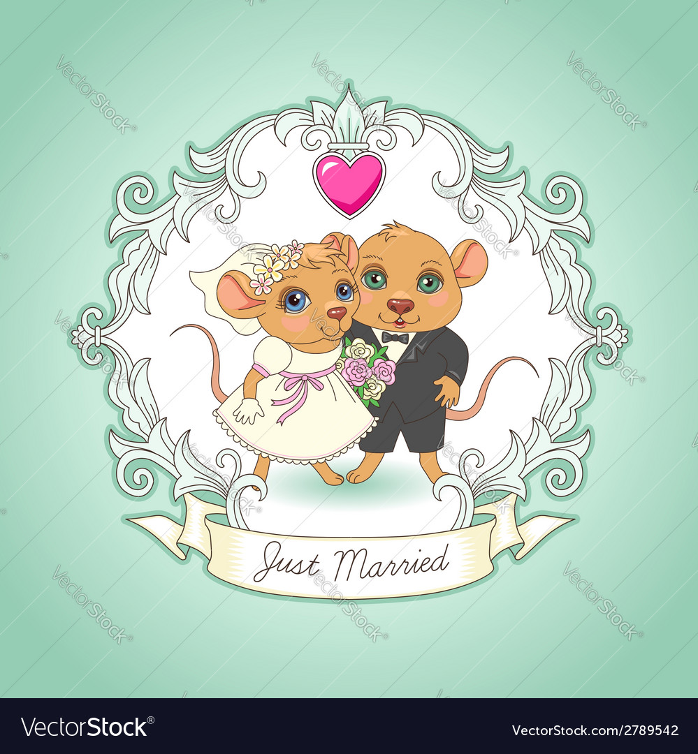 Just married card vector | Price: 1 Credit (USD $1)