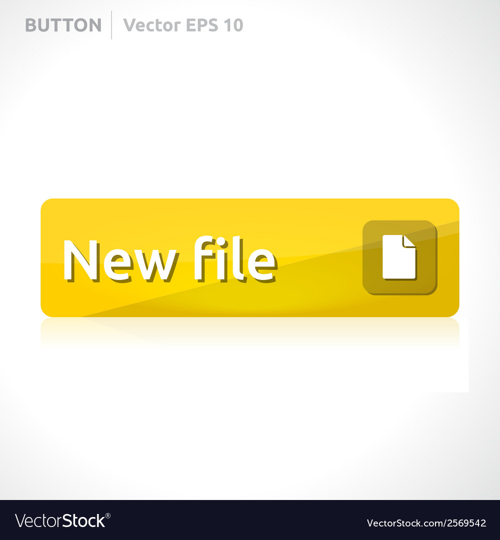 New file button template vector | Price: 1 Credit (USD $1)
