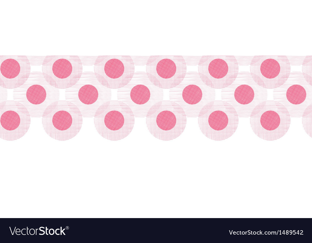 Pink textile circles horizontal seamless patter vector | Price: 1 Credit (USD $1)