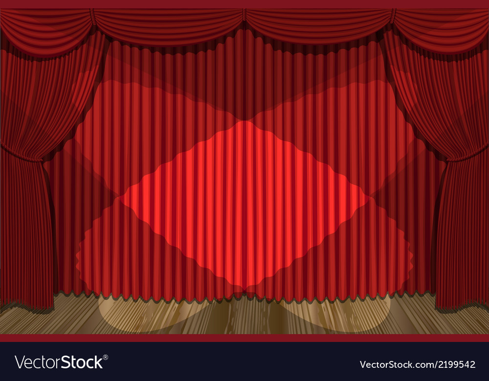 Red drapes vector | Price: 1 Credit (USD $1)