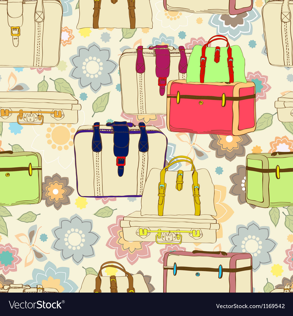 Seamless suitcases vector | Price: 1 Credit (USD $1)