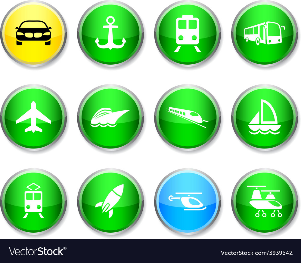 Transport round icons vector | Price: 1 Credit (USD $1)