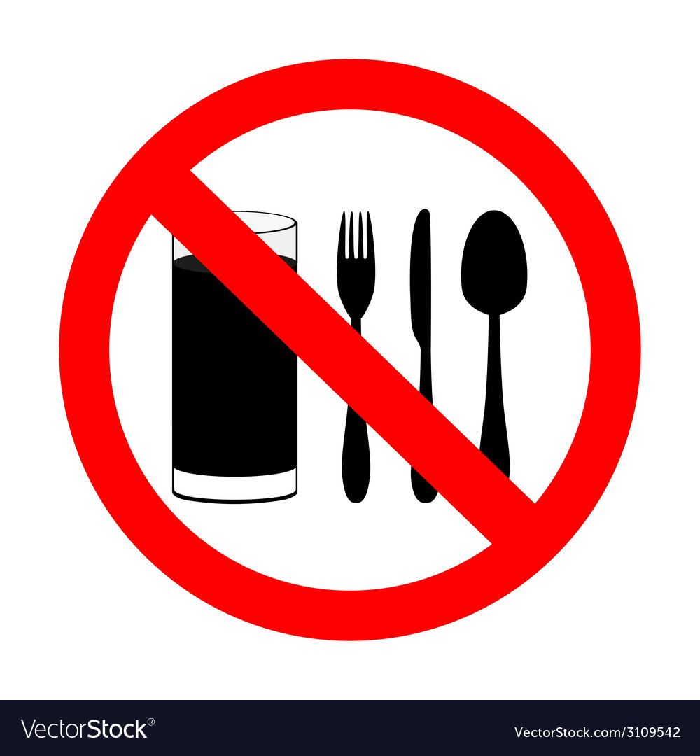 With food and beverages are not permitted vector | Price: 1 Credit (USD $1)