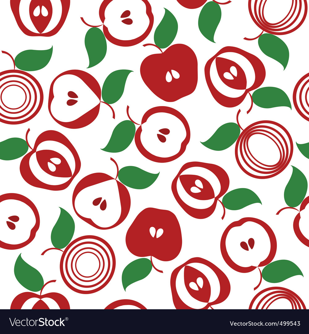 Apple seamless background vector | Price: 1 Credit (USD $1)