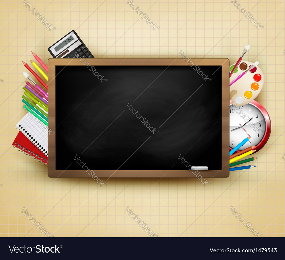 Back to school background with blackboard and vector | Price: 1 Credit (USD $1)