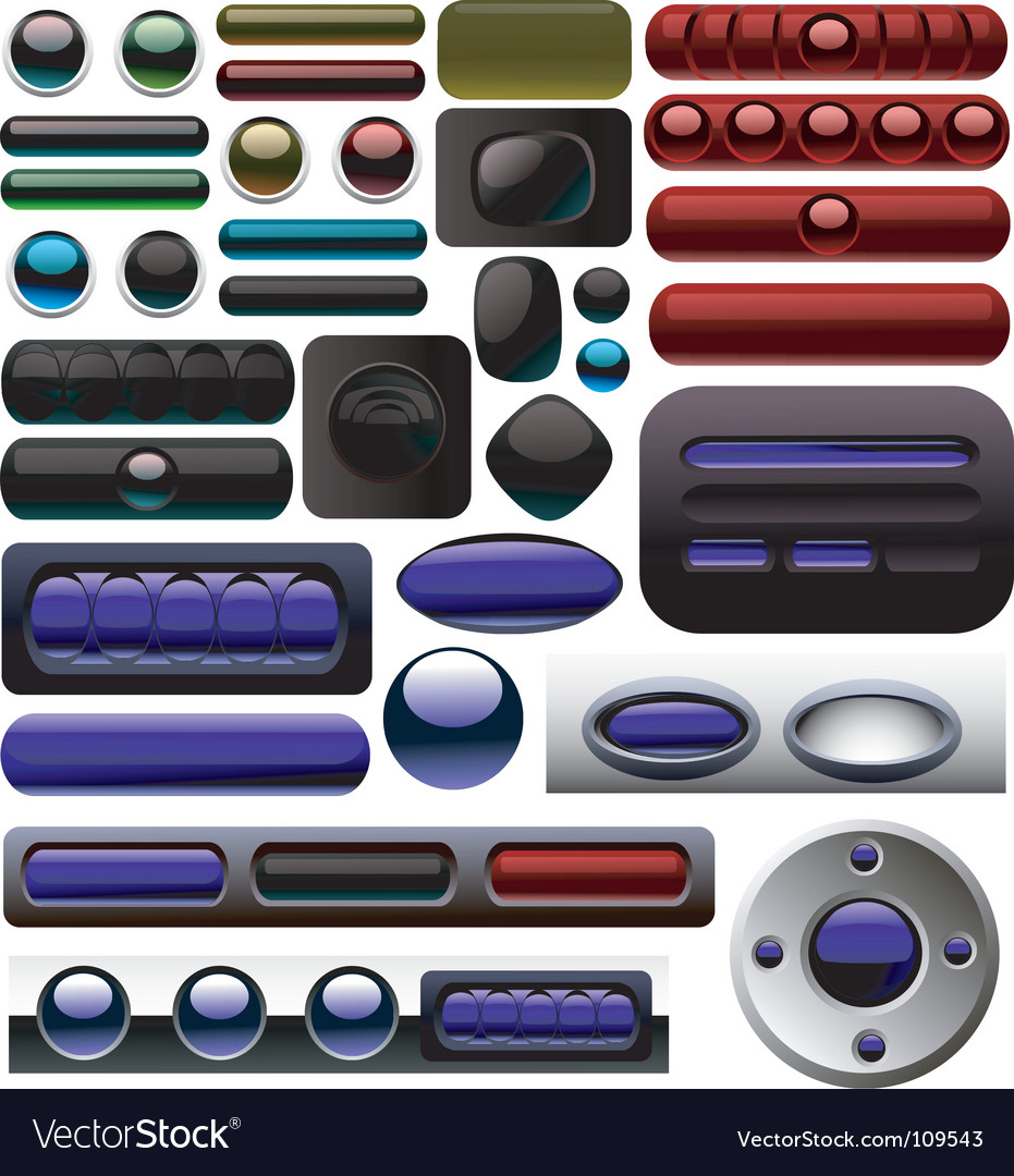 Carbon digital button collection vector   Price: 1 Credit (USD $1)