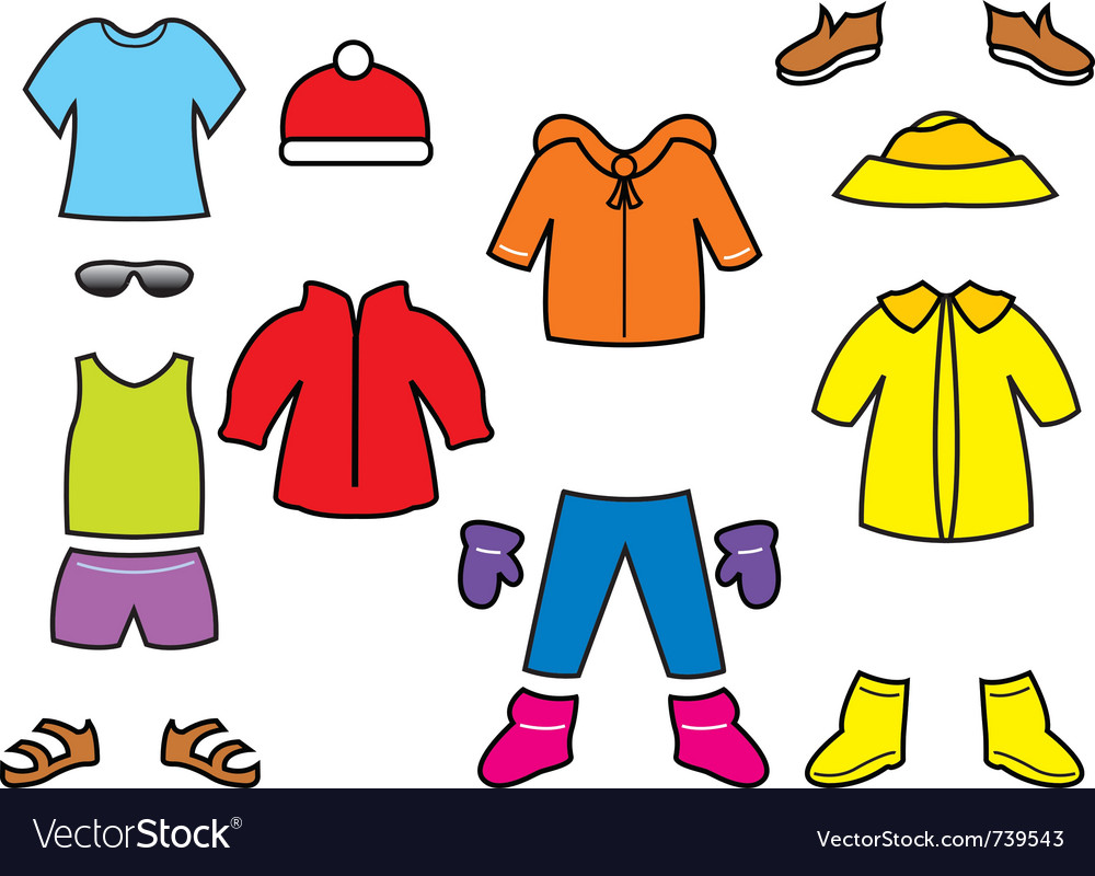 Childrens clothes collection vector | Price: 1 Credit (USD $1)