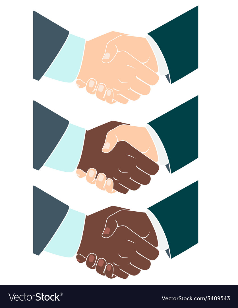 Handshake flat style vector | Price: 1 Credit (USD $1)