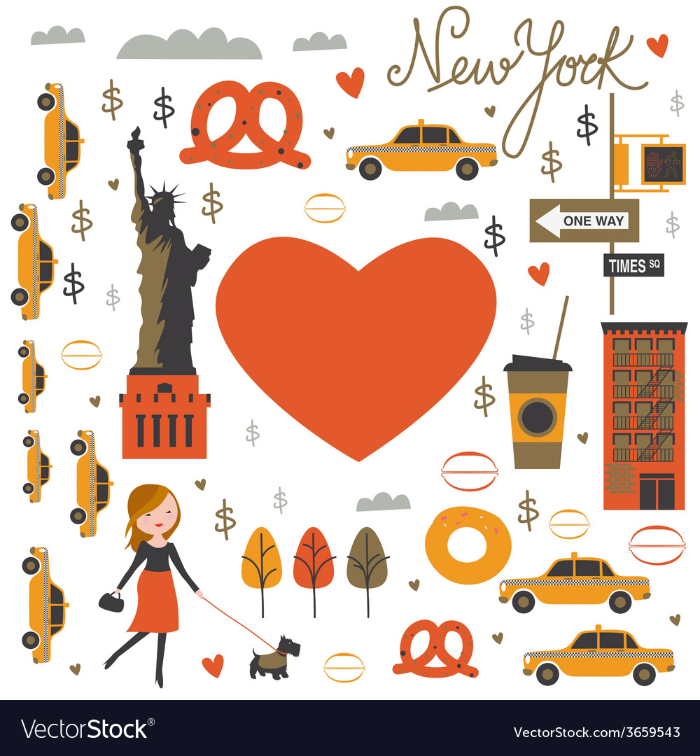 Nyc print vector | Price: 1 Credit (USD $1)