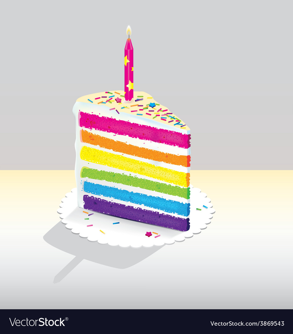 Rainbow cake vector | Price: 1 Credit (USD $1)