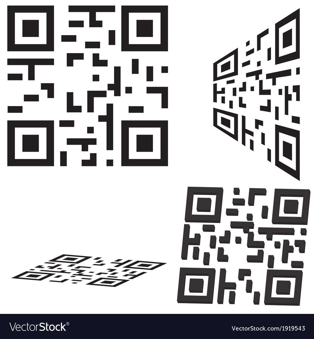 Set of qr code and flash code vector | Price: 1 Credit (USD $1)