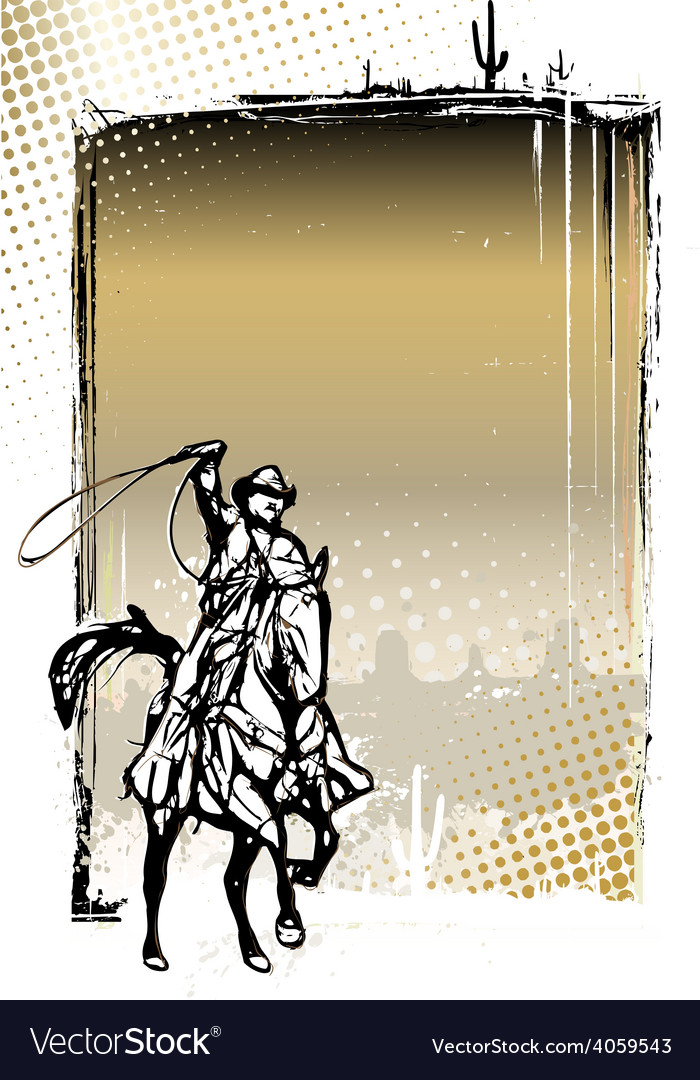 Western poster vector | Price: 3 Credit (USD $3)