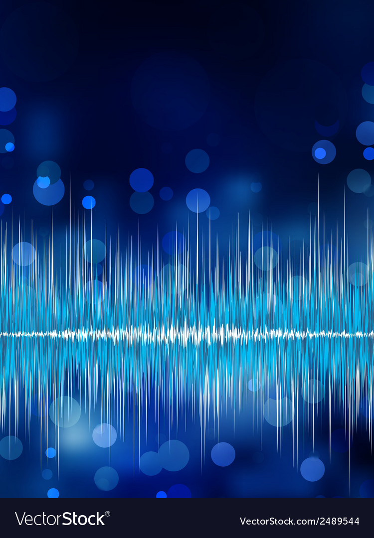 Abstract bokeh waveform background eps 8 vector | Price: 1 Credit (USD $1)
