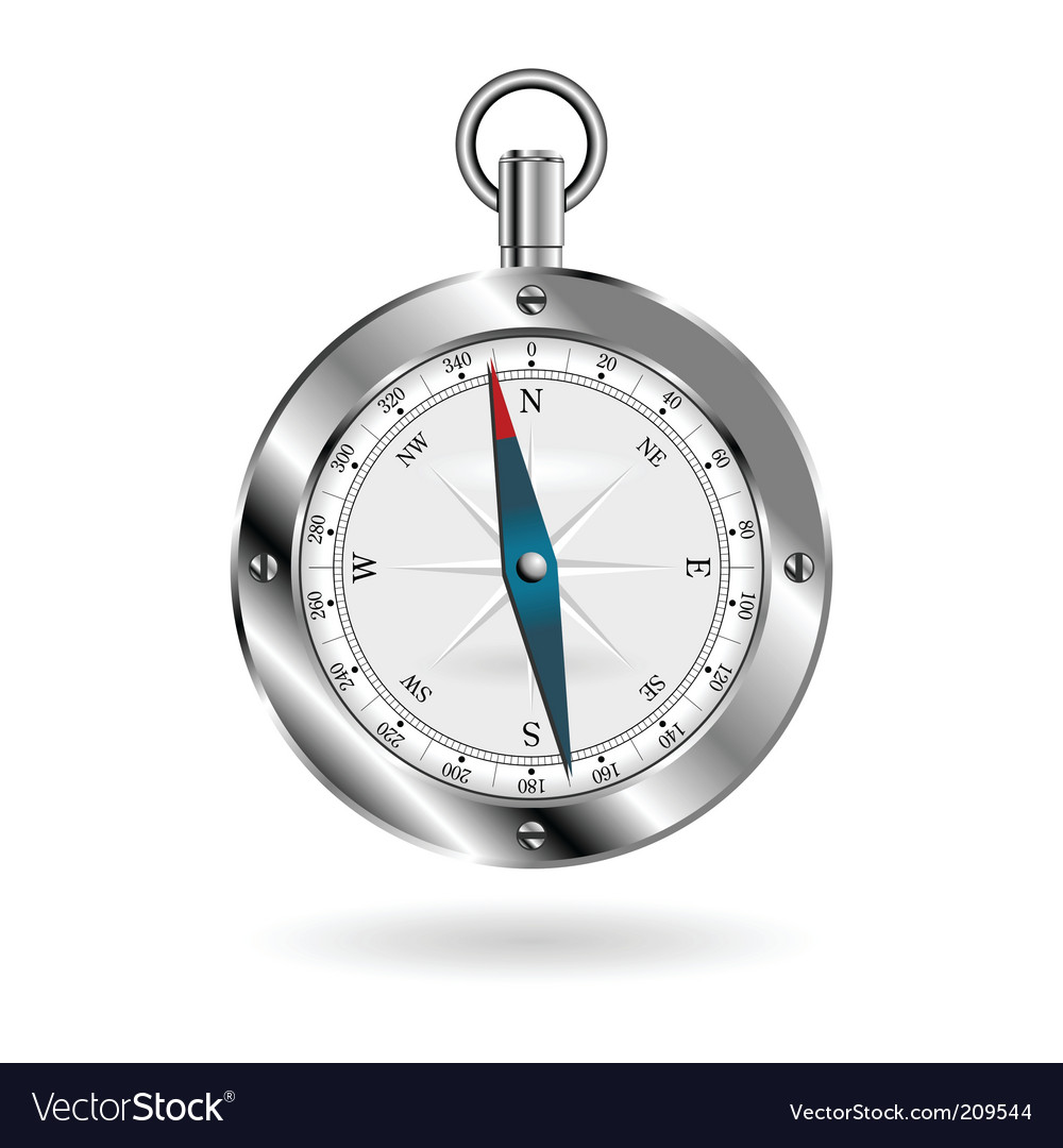 Compass over white vector | Price: 1 Credit (USD $1)