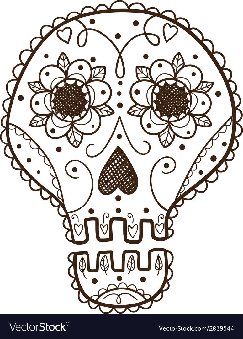 Decorative skull vector   Price: 1 Credit (USD $1)
