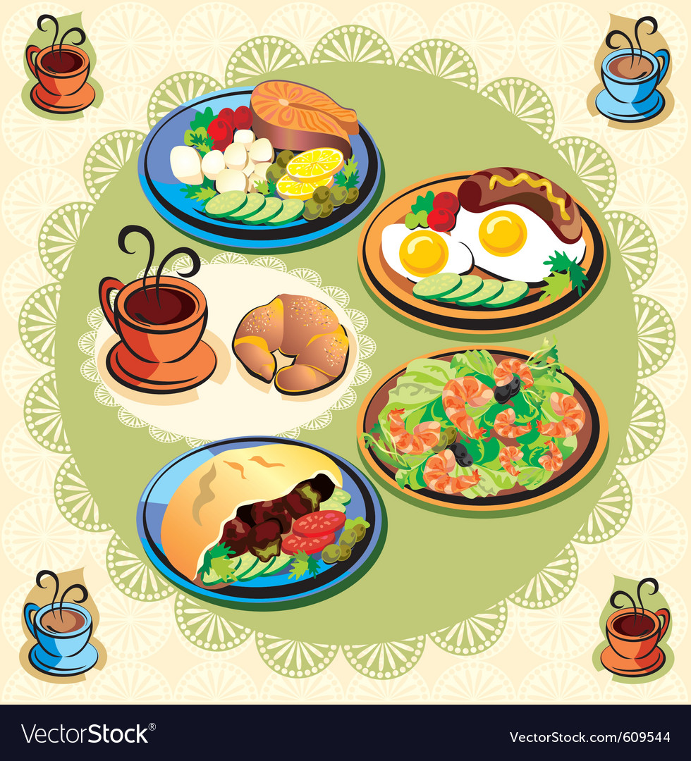 Food items vector | Price: 3 Credit (USD $3)