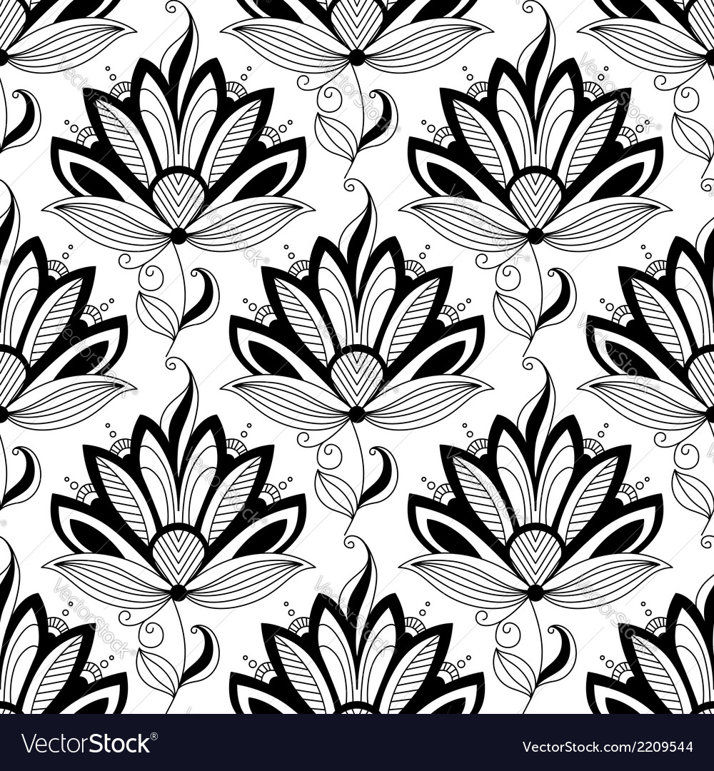 Paisley seamless floral pattern vector | Price: 1 Credit (USD $1)