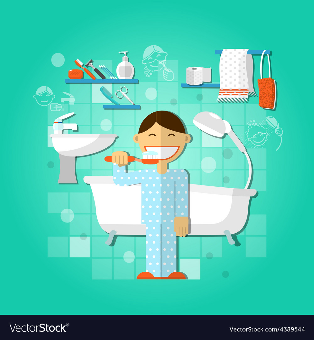 Personal hygiene concept vector