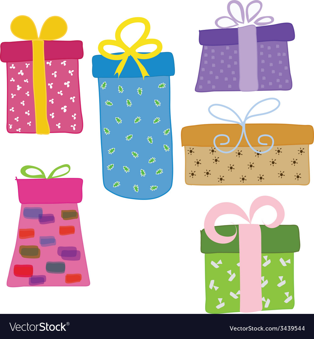 Set of colorful gift boxes vector | Price: 1 Credit (USD $1)