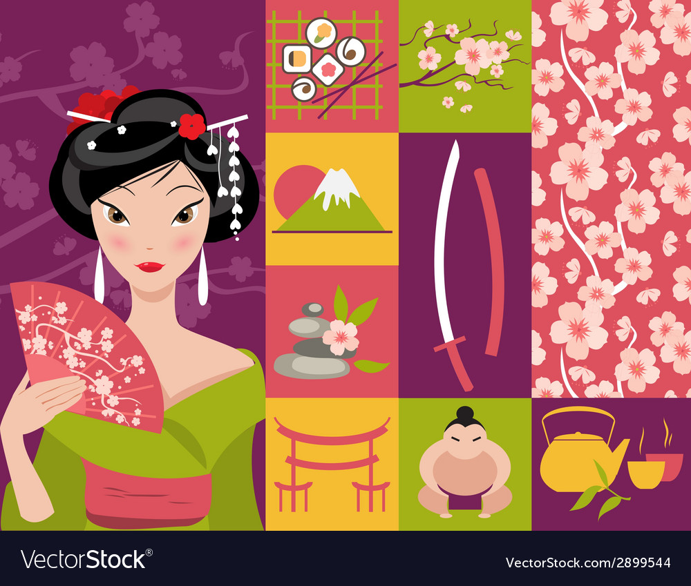 Symbol of japan vector | Price: 1 Credit (USD $1)