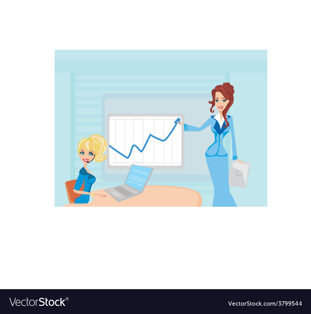 Three woman conducting a business meeting or vector | Price: 1 Credit (USD $1)