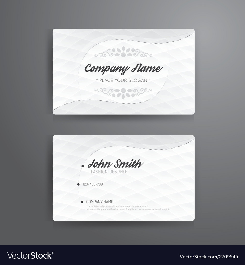 Business card template modern abstract vector | Price: 1 Credit (USD $1)