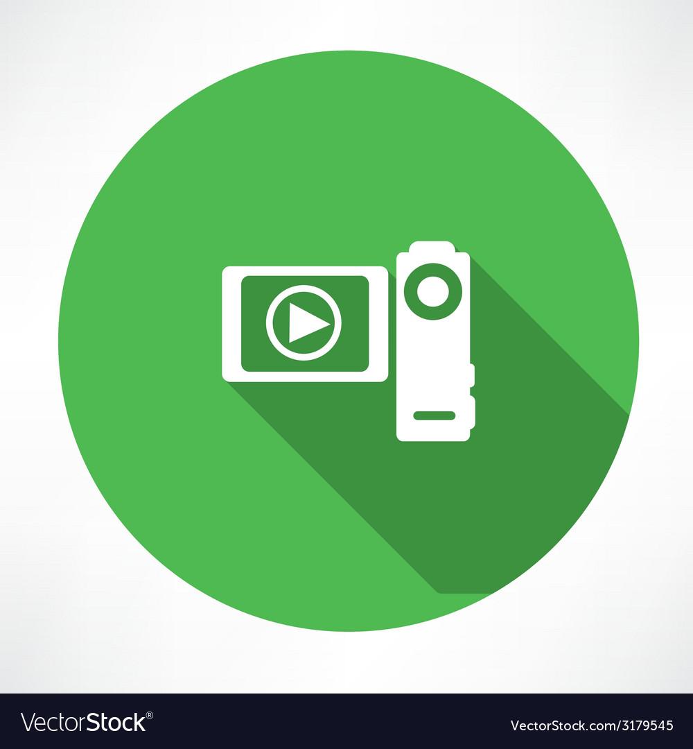 Digital video camera vector | Price: 1 Credit (USD $1)