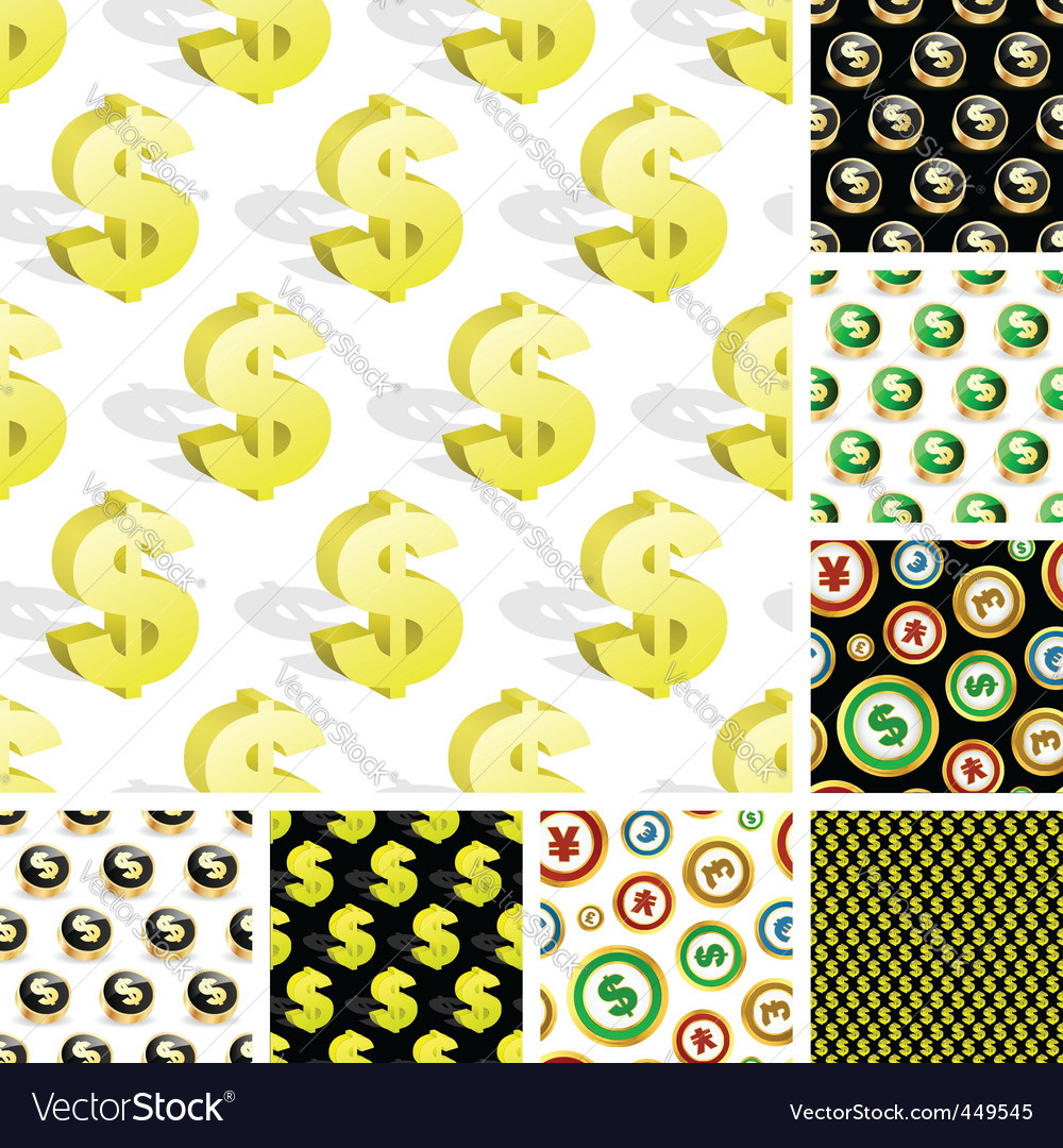 Dollar seamless pattern vector | Price: 1 Credit (USD $1)