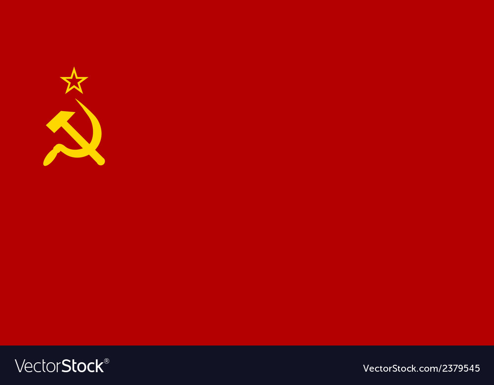 Flag of the soviet union vector | Price: 1 Credit (USD $1)