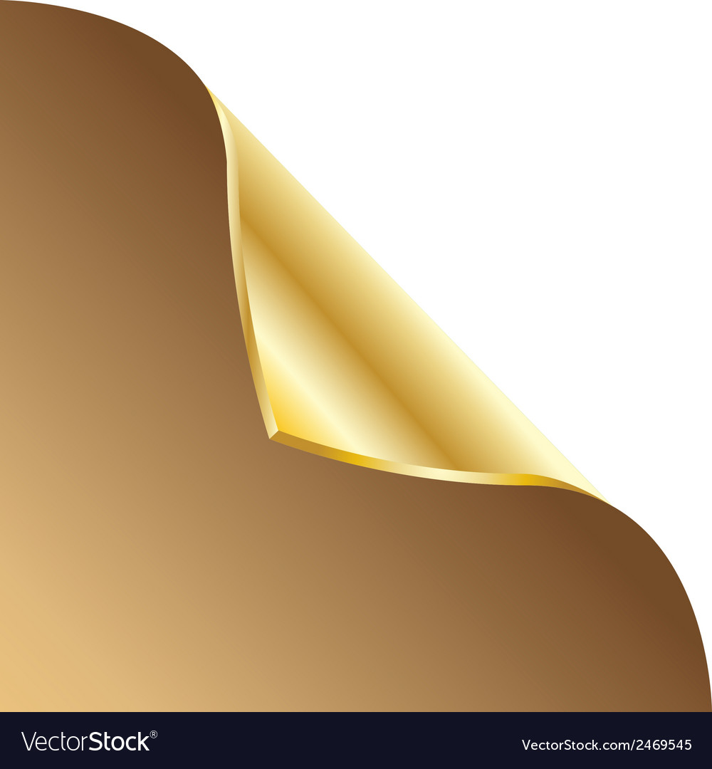 Folded edge of the sheet  gold vector | Price: 1 Credit (USD $1)