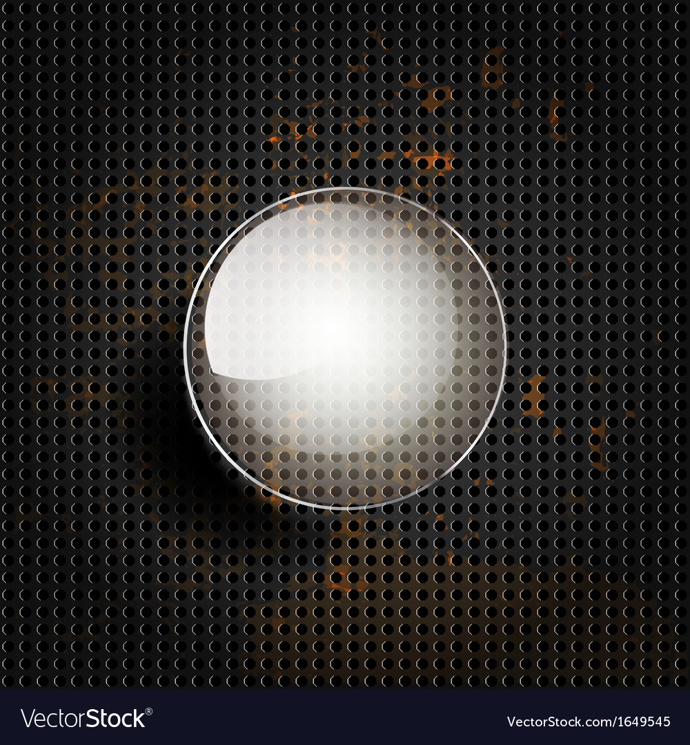Old metal background with carbon texture vector | Price: 1 Credit (USD $1)