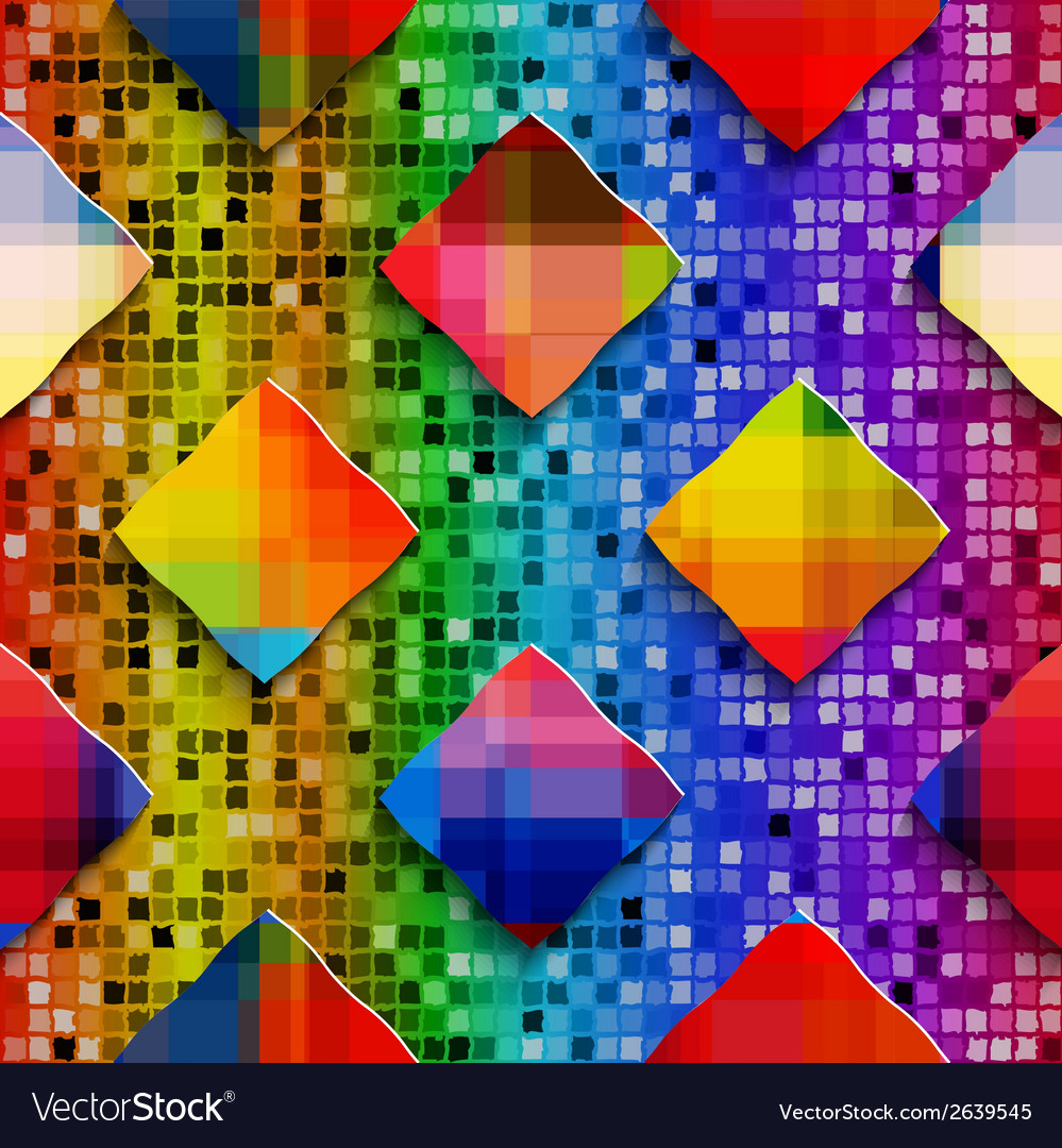 Rainbow colored rectangles on rainbow colored vector | Price: 1 Credit (USD $1)