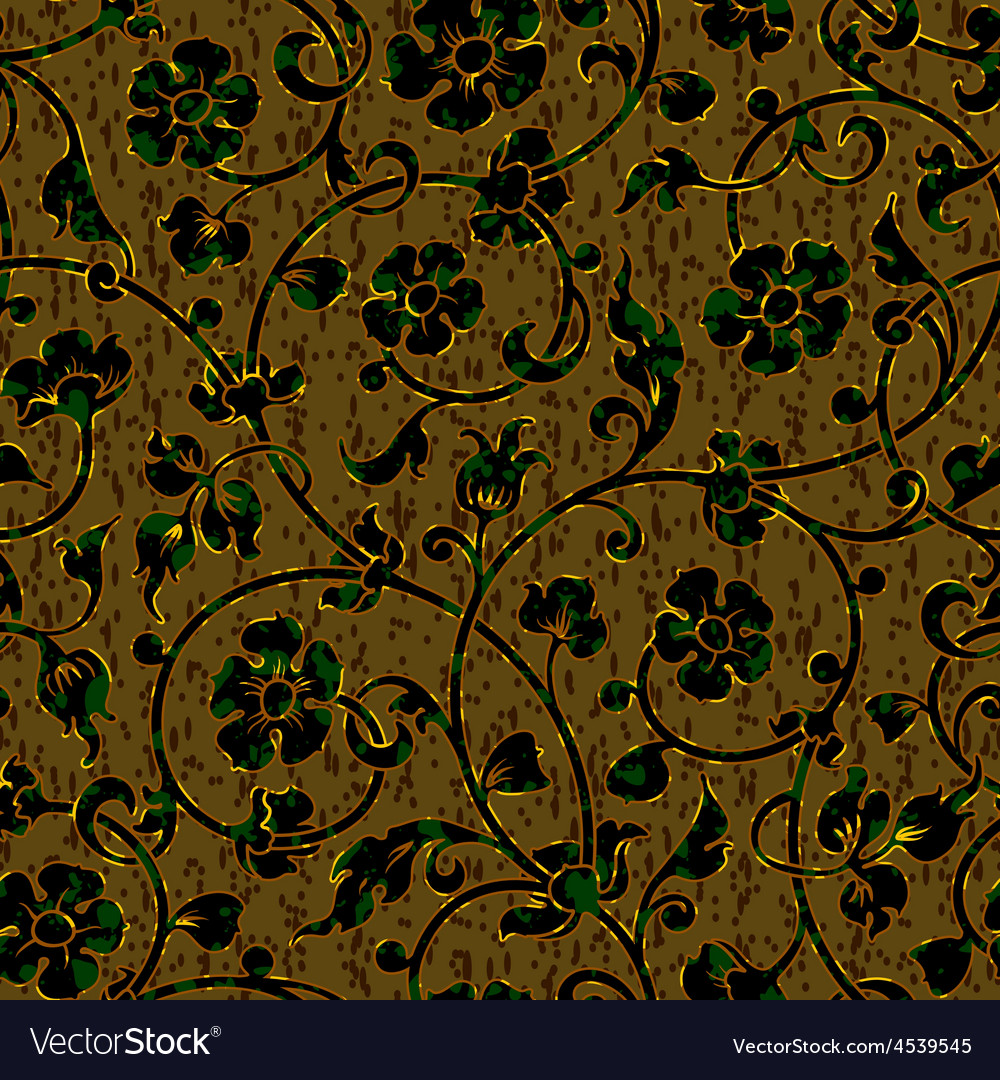 Seamless floral damask pattern background vector   Price: 1 Credit (USD $1)