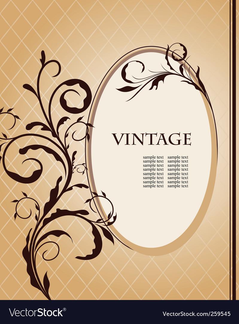 Vintage frame vector | Price: 1 Credit (USD $1)