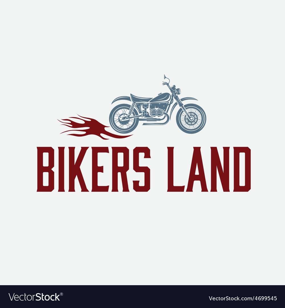 Vintage motorcycle with flames graphic design vector | Price: 1 Credit (USD $1)