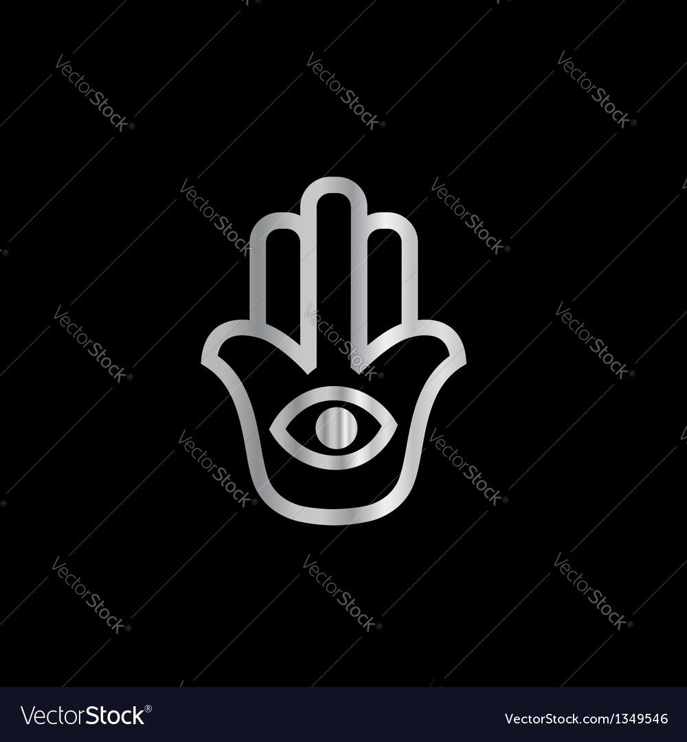Fatimas hand- khamsa religious symbol vector | Price: 1 Credit (USD $1)
