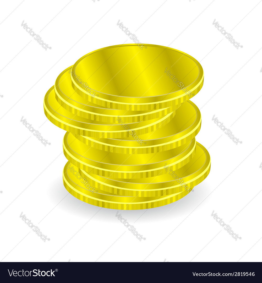 Gold coins vector | Price: 1 Credit (USD $1)
