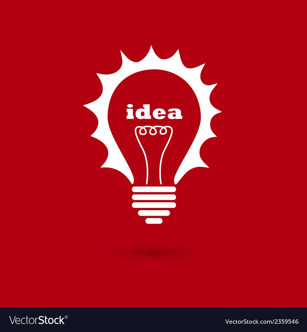 Idea bulb 2 vector | Price: 1 Credit (USD $1)