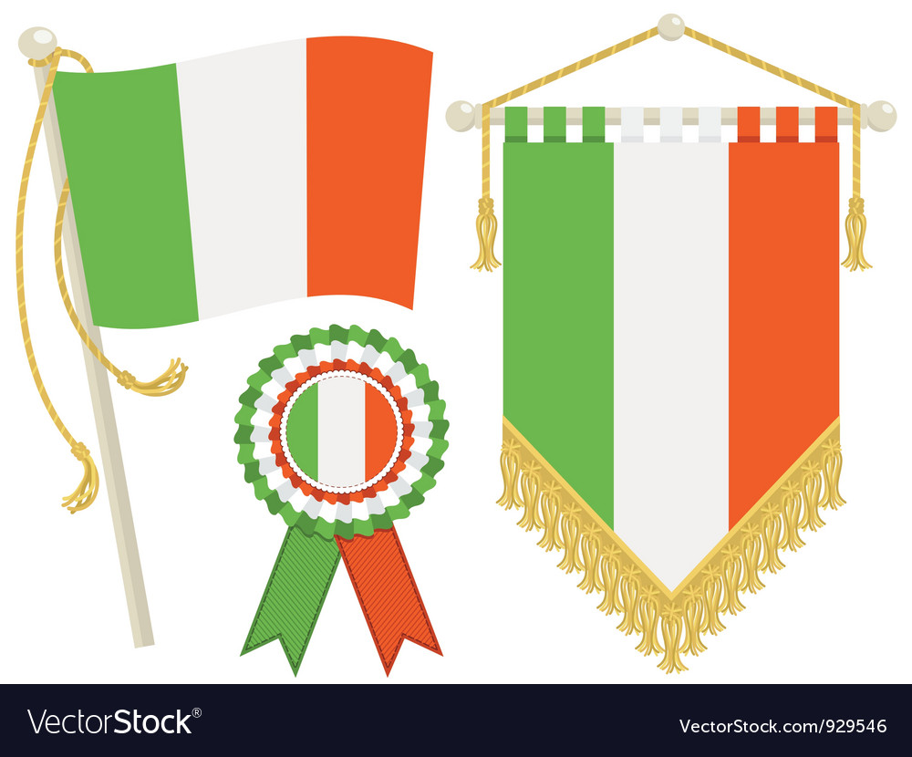 Ireland flags vector | Price: 1 Credit (USD $1)