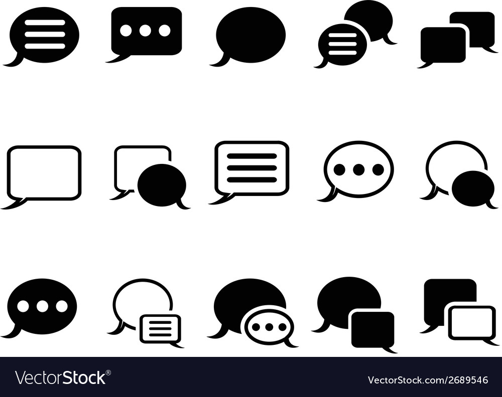 Speech bubble icons vector | Price: 1 Credit (USD $1)