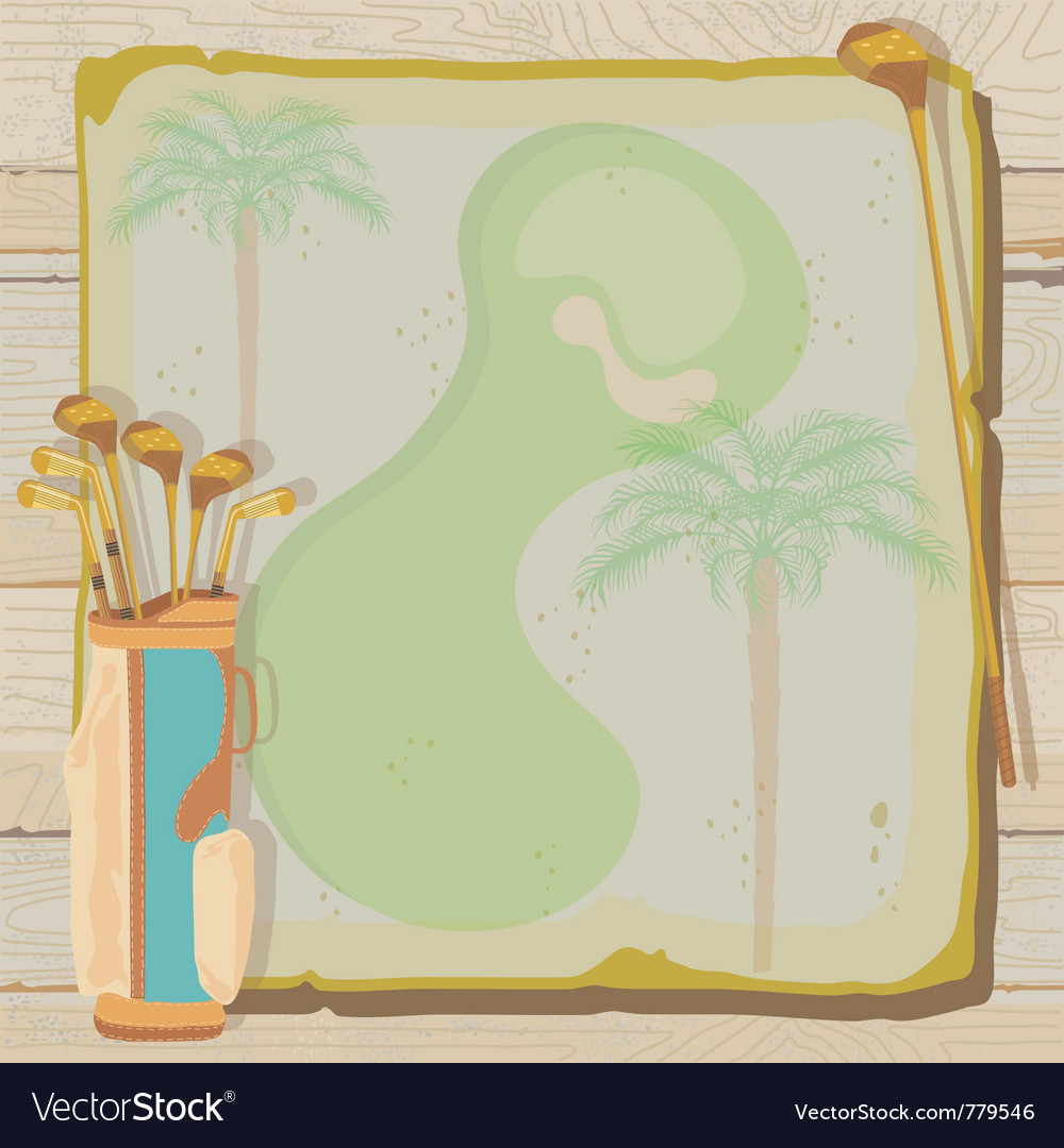 Tropical vintage golf party vector | Price: 1 Credit (USD $1)