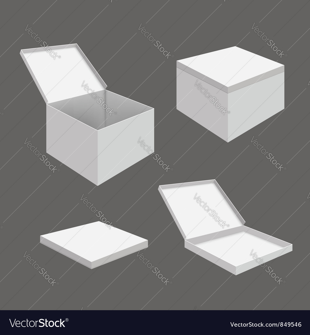 White blank boxes vector | Price: 1 Credit (USD $1)