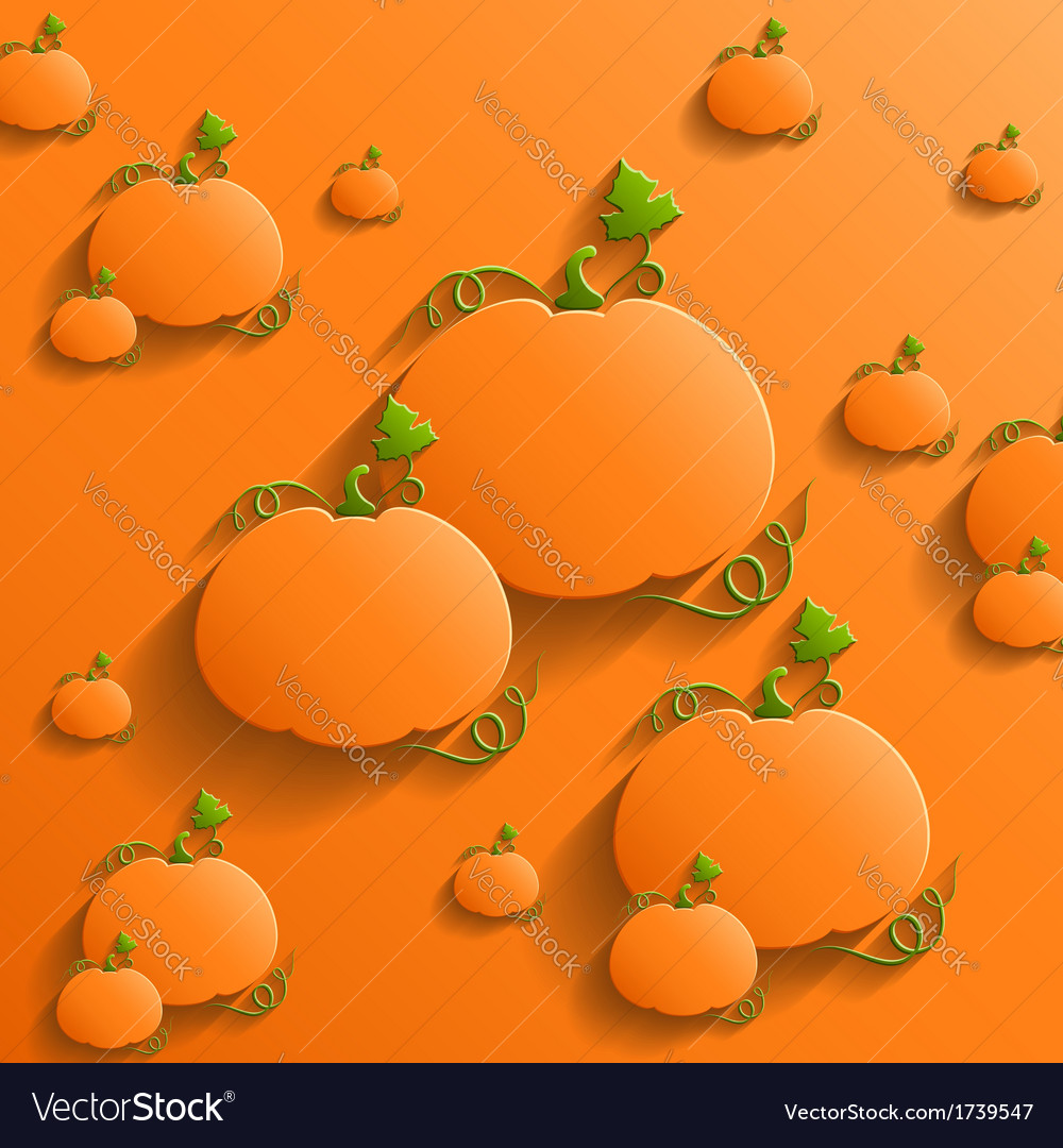 Abstract background with pumpkins vector | Price: 1 Credit (USD $1)