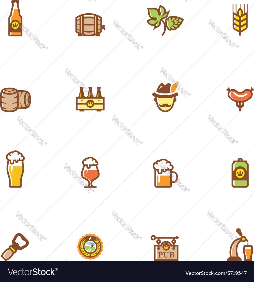 Beer icon set vector | Price: 1 Credit (USD $1)